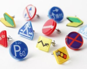 Aquvii Japanese Traffic Sign Earrings
