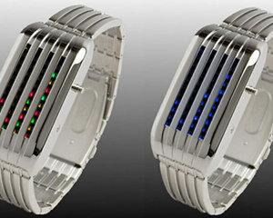 Barcode LED Watch