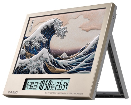 Casio Hokusai Ukiyoe Digital Art Print Clock
