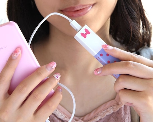 Disney Lipstick Phone Charger