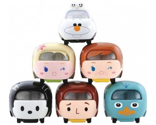 Disney Motors Tsum Tsum Olaf, Elsa, Anna, Woody, Oswald, Perry