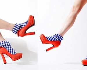 Erimaki Sox Shirt Type Socks Gingham Check