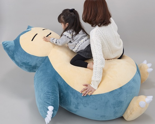 Giant Snorlax Pokemon Cushion