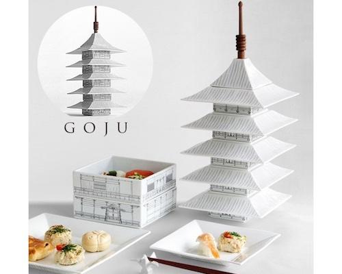 Goju Kyoto Pagoda Dinnerware