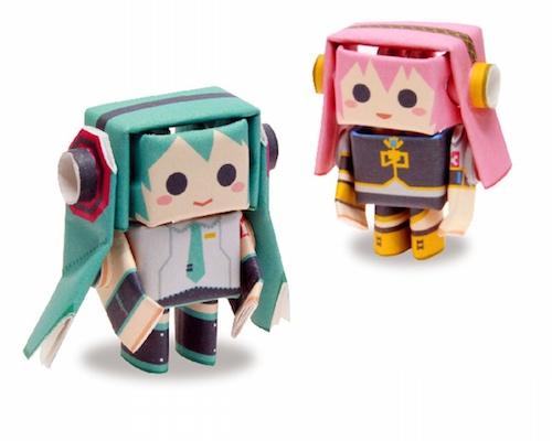 Hatsune Miku & Megurine Luka Piperoid Papercraft Models