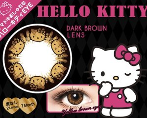 Hello Kitty Color Contact Lenses Dark Brown