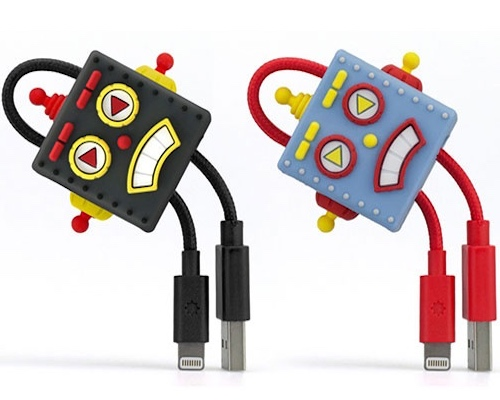 Japanese Retro Robot Lightning Cable