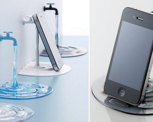 Elecom nendo Jaguchi iPhone iPad Stand