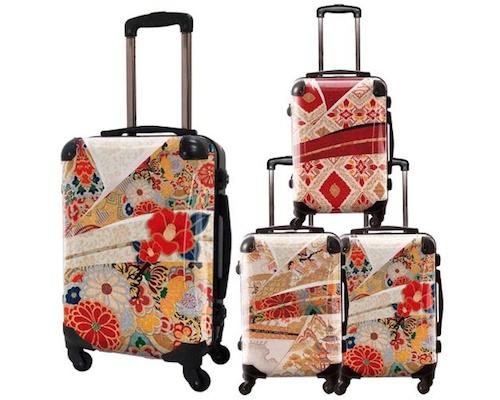 Japanese Flowers Art Suitcase