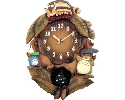My Neighbor Totoro Tree Wall Clock