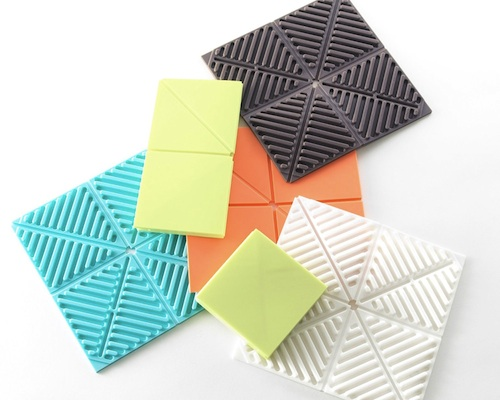 Orishiki Fold-up Silicone Kitchen Mat Set