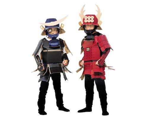 Samurai Armor Kacchu Cardboard Costume Kit