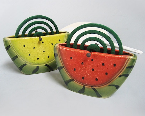 Shigaraki-yaki Watermelon Ceramic Mosquito Coil Holder