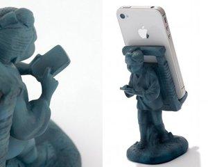 Sontoku Ninomiya Statue Smartphone Stand