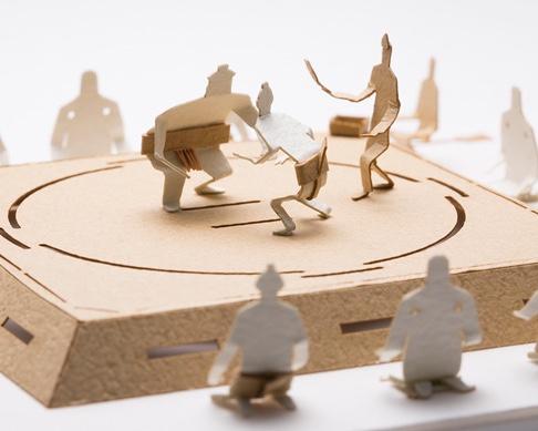 Sumo Wrestling Model by Terada Mokei