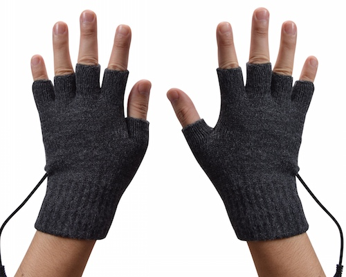 Thanko USB Heated Mittens