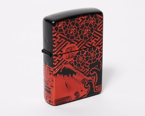 Zippo Lighter Mt Fuji Cherry Blossom Design